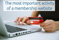 most important activity of membership websites